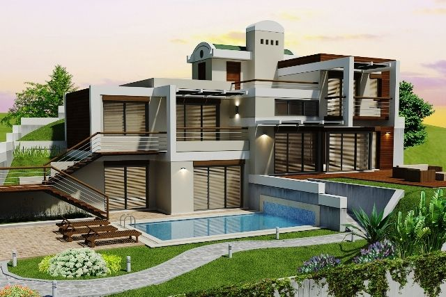 Ultra modern bodrum villa for sale 4 bedroom for Ultra modern homes for sale
