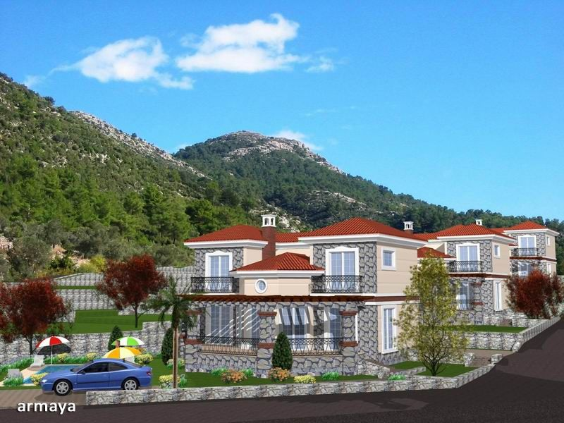 3 Bedroom Villas in Uzumlu ,Fethiye for sale